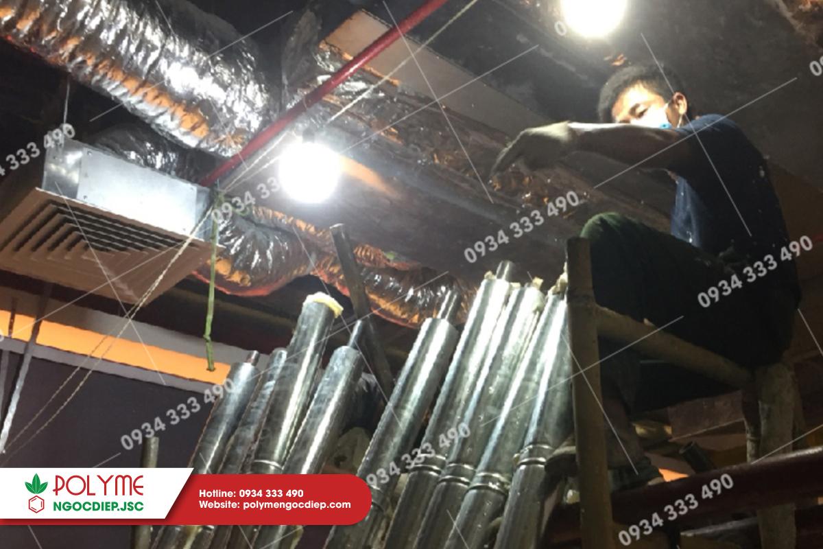 Thi công cách nhiệt hệ thống ống gió tại CGV Thái Nguyên