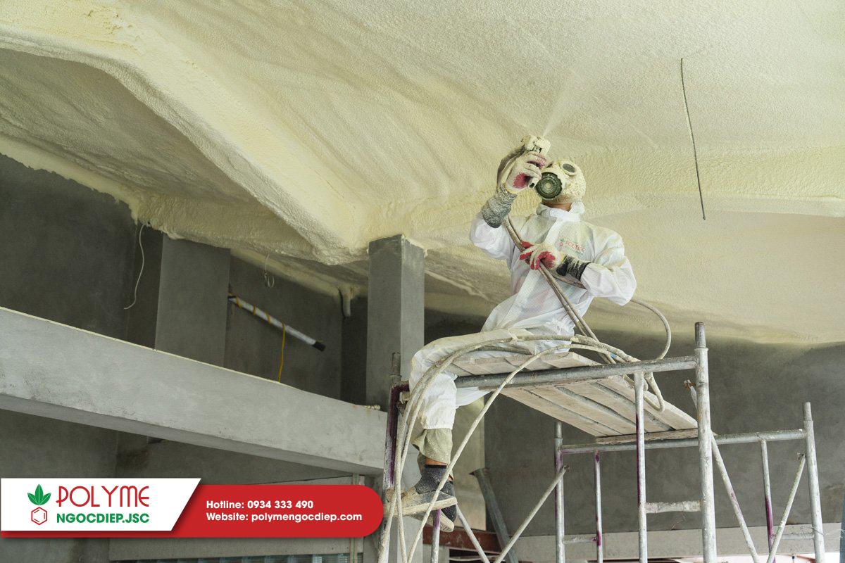 Chống nóng trần bê tông với công nghệ Foam PU