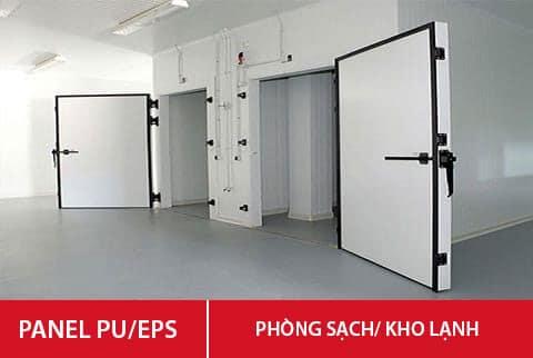 Penel PU - EPS Phòng sạch kho lạnh