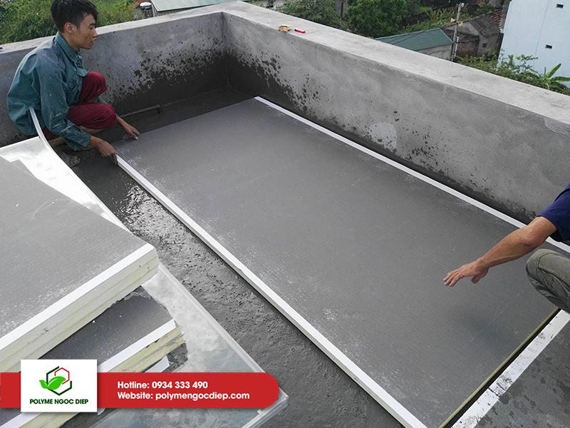 chống nóng mái bê tông